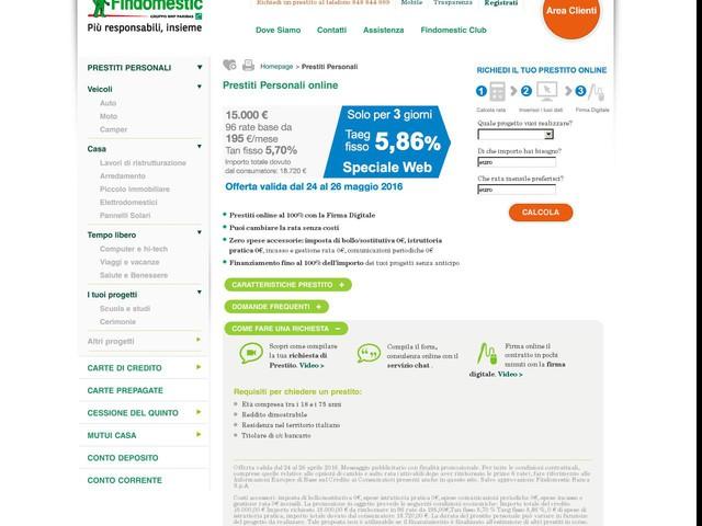 Prestiti Personali e Finanziamenti 100% Online  Findomestic - Finanza - Anygator.com