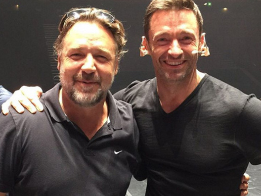Hugh Jackman e Russell Crowe si incontrano a Sydney