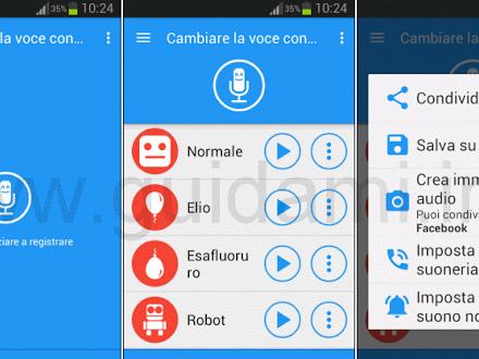 Cambiare voce con effetti per messaggi vocali WhatsApp su Android