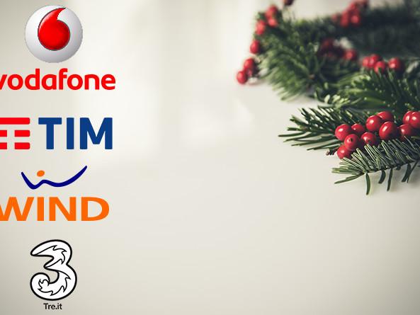 Offerte ricaricabili e abbonamenti dicembre Natale 2016 internet e smartphone incluso: Vodafone Christmas Card, Tim Smart Casa, Wind All Inclusive e Tre Italia All-In Vip