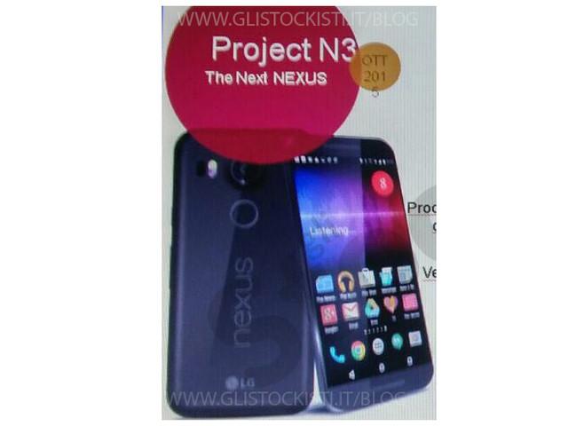 Nexus 5 2015 by LG : Ecco una nuova foto e le presunte caratteristiche tecniche.