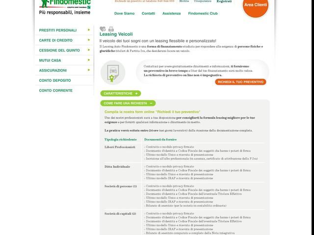 Leasing Auto nuove e usate con preventivo online  Findomestic - Motori - Anygator.com