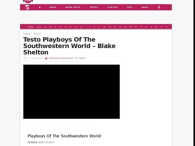 Playboys of the Southwestern World
