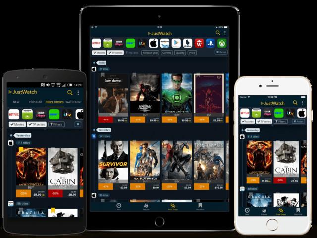 JustWatch: Trovare Serie TV e Film su Netflix, Sky, Infinity ed altri