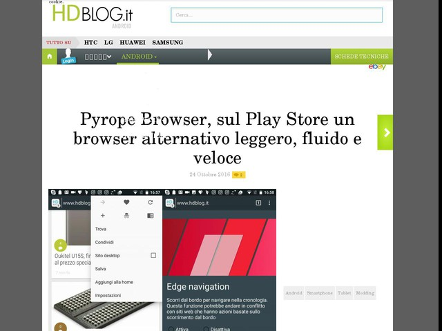 Pyrope Browser, sul Play Store un browser alternativo leggero, fluido e veloce