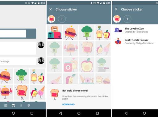 Scarica Google Messenger, con condivisione della posizione e adesivi nella versione 1.4 aggiornata