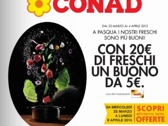 Volantino Conad: offerte dal 25 marzo al 6 aprile 2015
