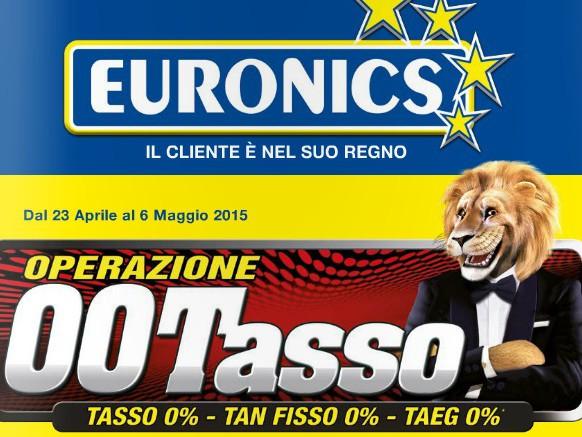 Euronics, torna lo 00Tasso: offerte e volantini della promo di fine aprile, cosa spicca?