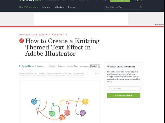 How to Create a Knitting Themed Text Effect in Adobe Illustrator