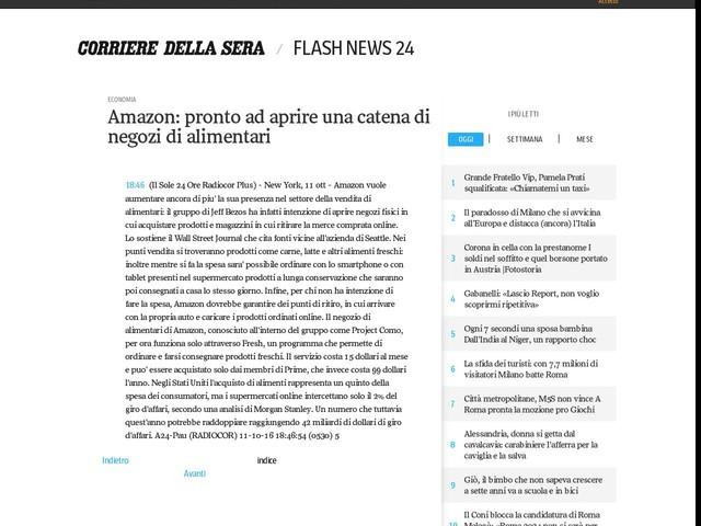 Amazon: pronto ad aprire una catena di negozi di alimentari