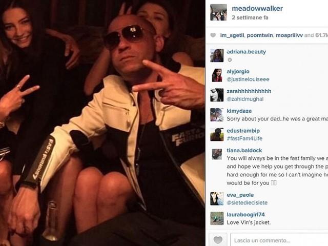 Paul Walker, la figlia Meadow lo ricorda su Instagram. Le foto