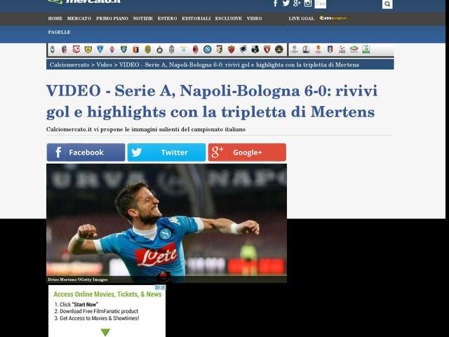 VIDEO - Serie A, Napoli-Bologna 6-0: rivivi gol e highlights con la tripletta di Mertens