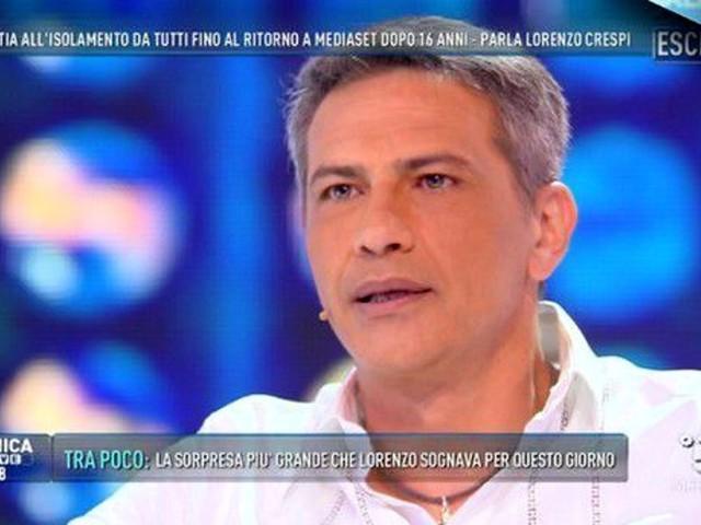 Lorenzo Crespi, dopo la malattia il ritorno in tv