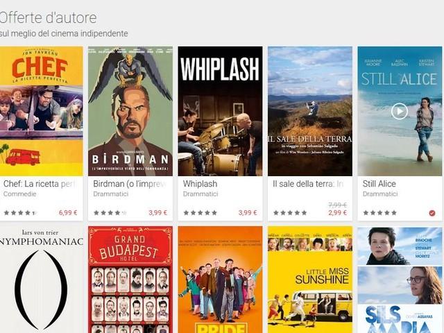 """Google Play Film lancia le offerte d'autore, le offerte speciali e le """"magiche"""" offerte"""