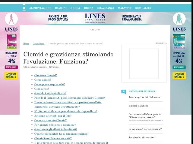 farmaco clomid ovulazione