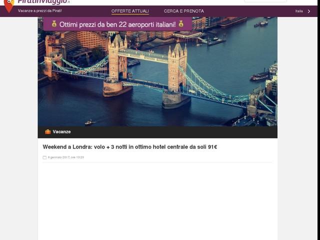Londra Volo Hotel