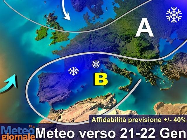 Vortice artico sull'Italia: maltempo invernale super neve. Poi svolta meteo