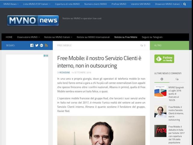 Free Mobile: il nostro Servizio Clienti è interno, non in outsourcing