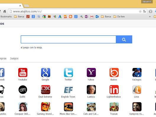 Come rimuovere Atajitos.com da pagina iniziale
