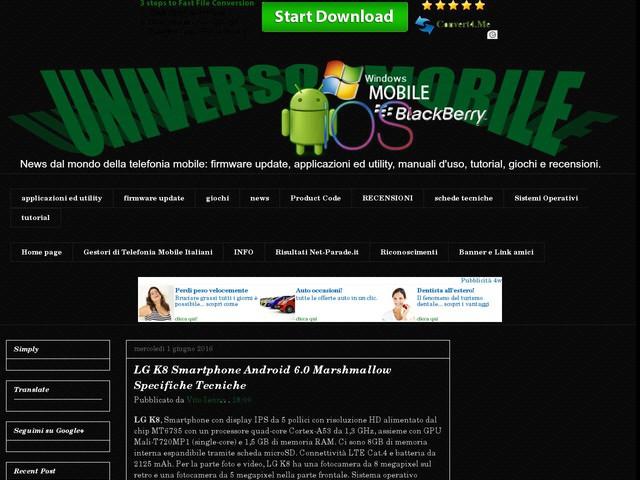 LG K8 Smartphone Android 6.0 Marshmallow Specifiche Tecniche