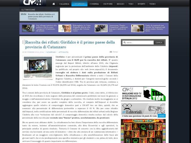 Raccolta dei rifiuti: Girifalco è il primo paese della provincia di Catanzaro