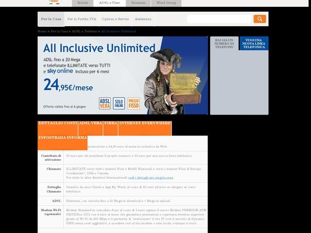 All Inclusive Unlimited: Confronto Offerte ADSL Casa - Infostrada