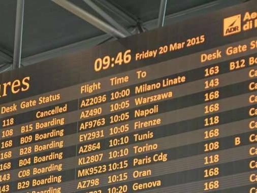 Uiltrasporti:stop a 285 voli Alitalia
