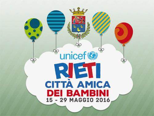 Rieti città amica dei bambini, gli eventi in programma sabato 28 maggio