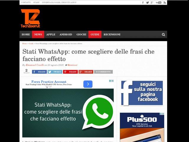 Stati WhatsApp: come scegliere delle frasi che facciano effetto