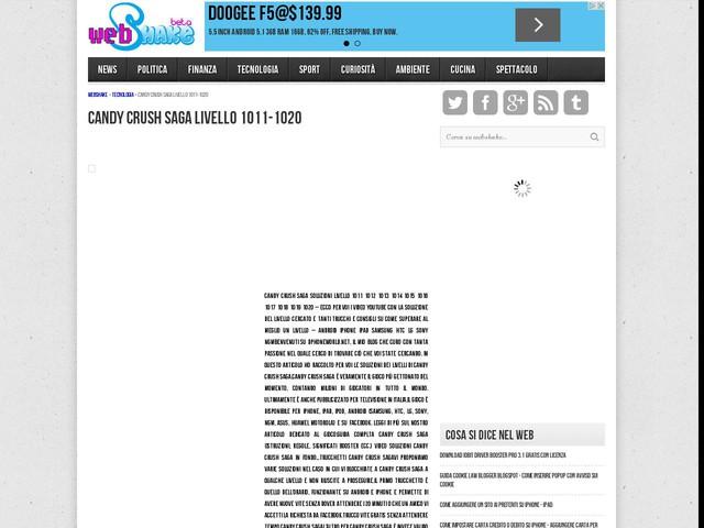 Candy Crush Saga livello 1011-1020