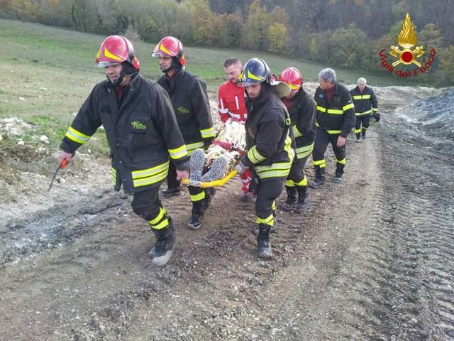 Prove di soccorso sulla Marche-Umbria in costruzione