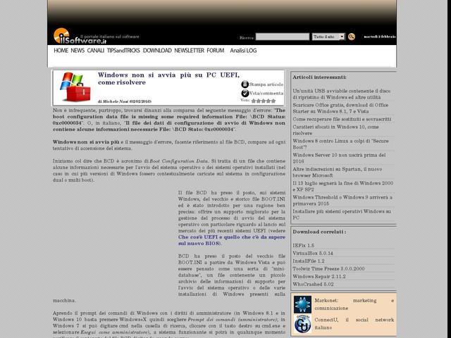 Windows non si avvia più su PC UEFI, come risolvere