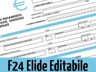 Modello f24 elide 2016 scrivibile compilabile editabile in for F24 elide istruzioni