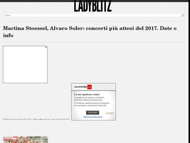 Martina Stoessel, Alvaro Soler: concerti più attesi del 2017. Date e info