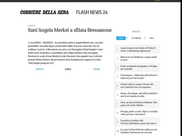 Sant'Angela Merkel a sfilata Bressanone