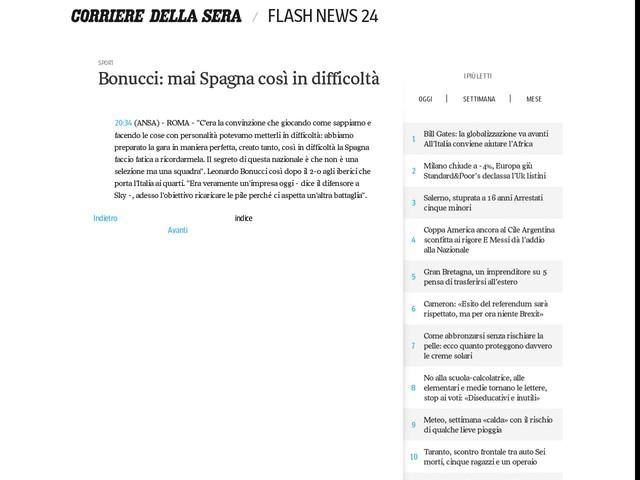 Bonucci: mai Spagna così in difficoltà