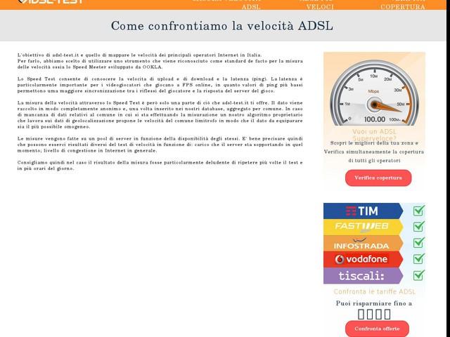 Come confrontiamo la velocità ADSL - ADSL Test ...
