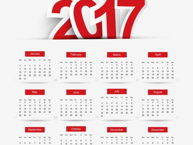 Calendario 2017 PDF-Excel da stampare con santi e festività: dove ...