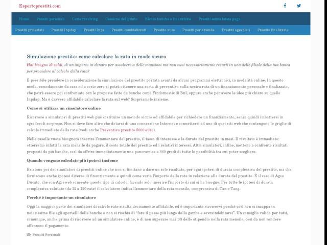 Calcolo prestito personale: come fare una simulazione online - Finanza - Anygator.com