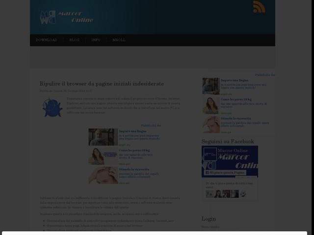 Ripulire il browser da pagine iniziali indesiderate