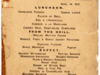 #Titanic: Menù Dell'Ultimo Pranzo All'Asta Il 30 Settembre Al Prezzo Di Circa 60.000 Dollari