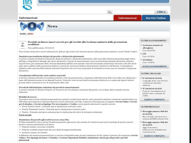 Prestiti: in linea i nuovi servizi per gli iscritti alla Gestione unitaria delle prestazioni creditizie