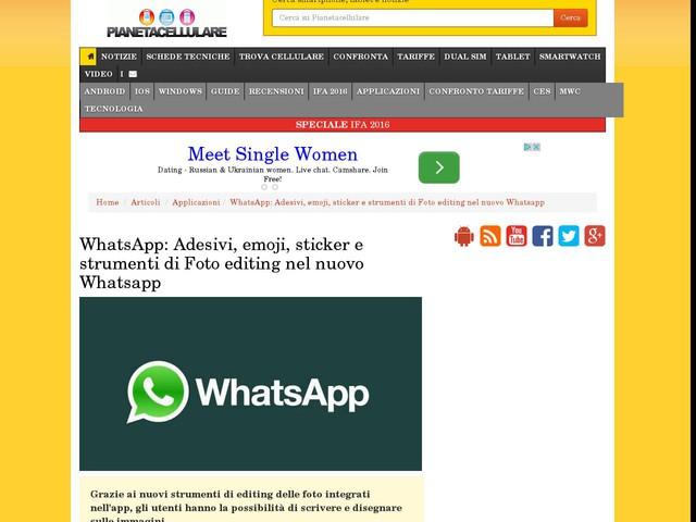 WhatsApp: Adesivi, emoji, sticker e strumenti di Foto editing nel nuovo Whatsapp