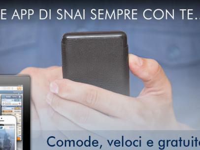 Prova la nuova APP Snai Sport per dispositivi iOS