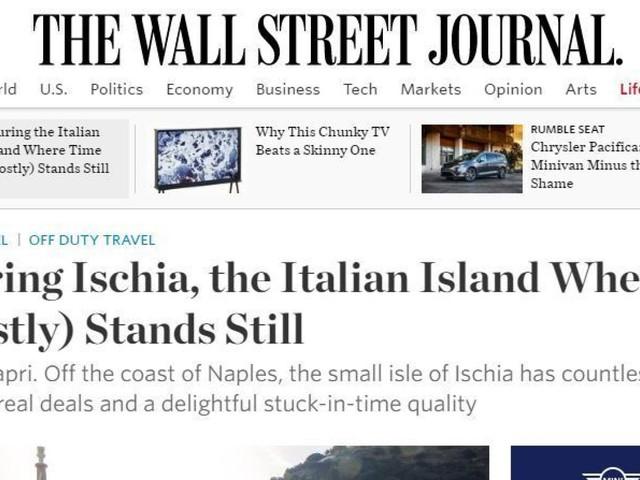 """L'isola di Ischia cattura il """"The Wall Street Journal"""":""""Dimenticate Capri, qui sapori e volti sono quelli di una volta"""""""