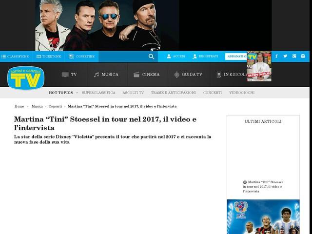 """Martina """"Tini"""" Stoessel in tour nel 2017, il video e l'intervista"""