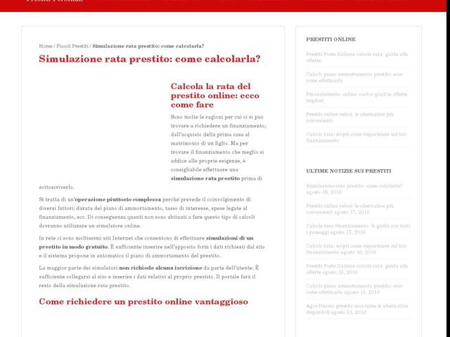 Simulazione rata prestito: come calcolarla? - Finanza - Anygator.com