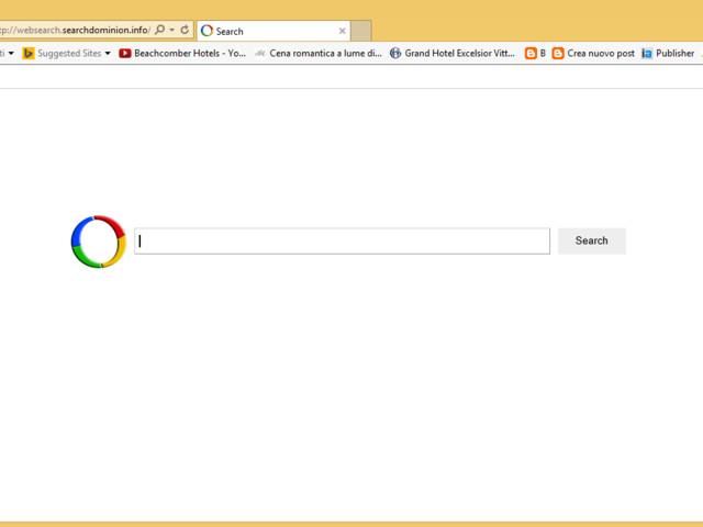 Come rimuovere Websearch.searchdominion.info da pagina iniziale