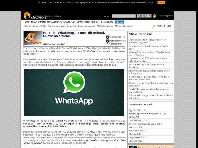 Falla in WhatsApp, come difendersi. Nuove polemiche