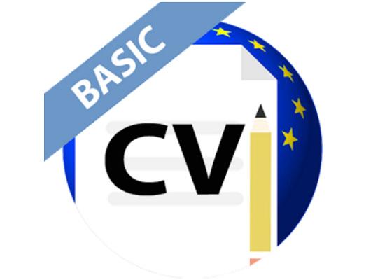Curriculum Vitae in formato Europeo da smartphone con un'app
